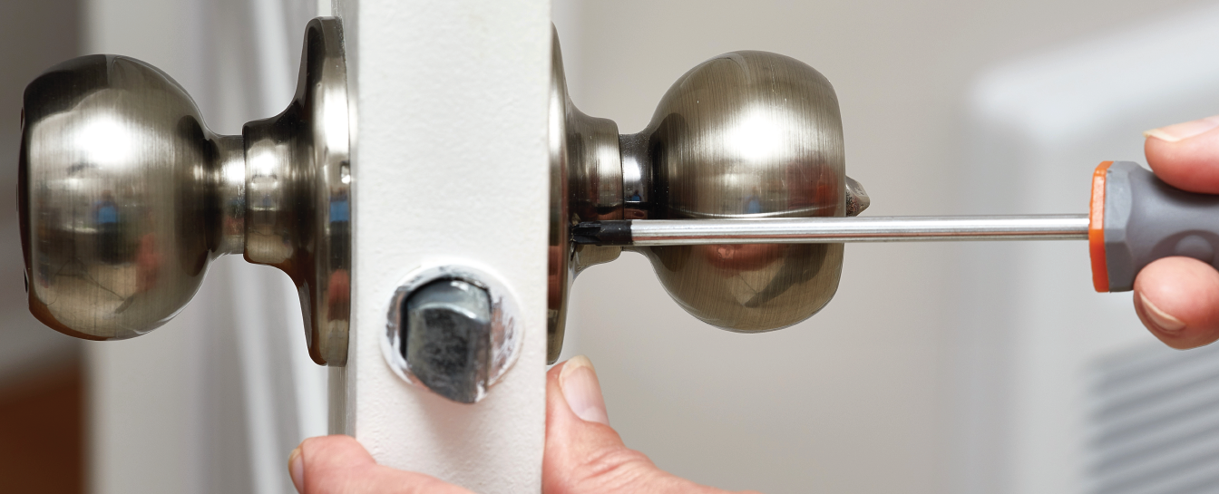 Door locks and knobs repair or locksmith services